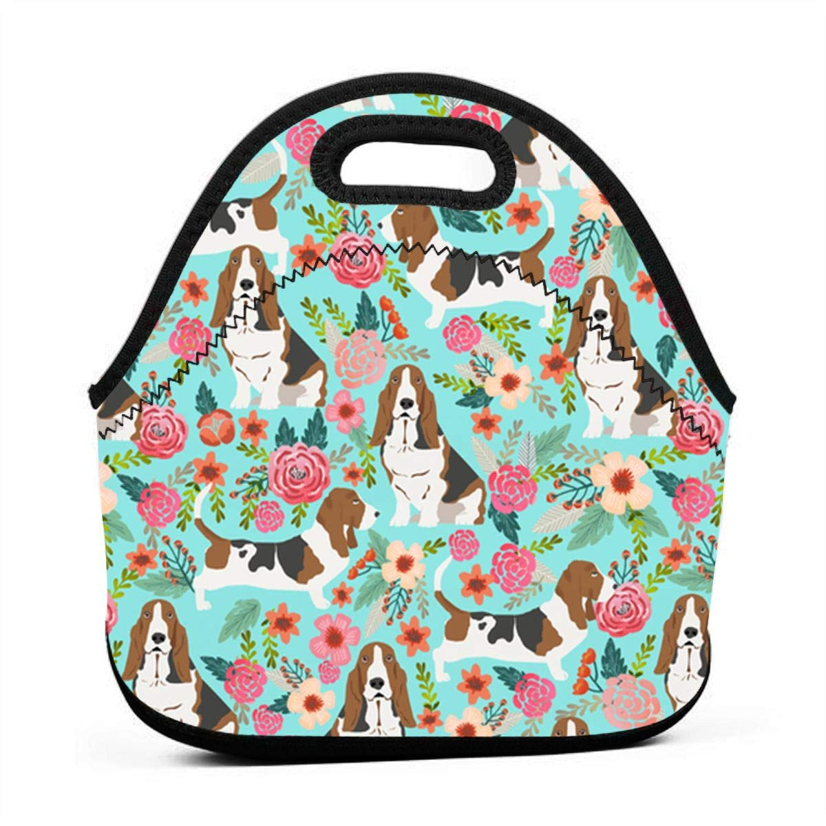 4ff415667d94 ONUPMIN Ideal Gifts - Insulated Lunch Bag Sweet Basset Hound and Vintage  Florals Bento Lunch Bag Thermal Cooler Lunch Pouch with Portable Carrying  Bag ...