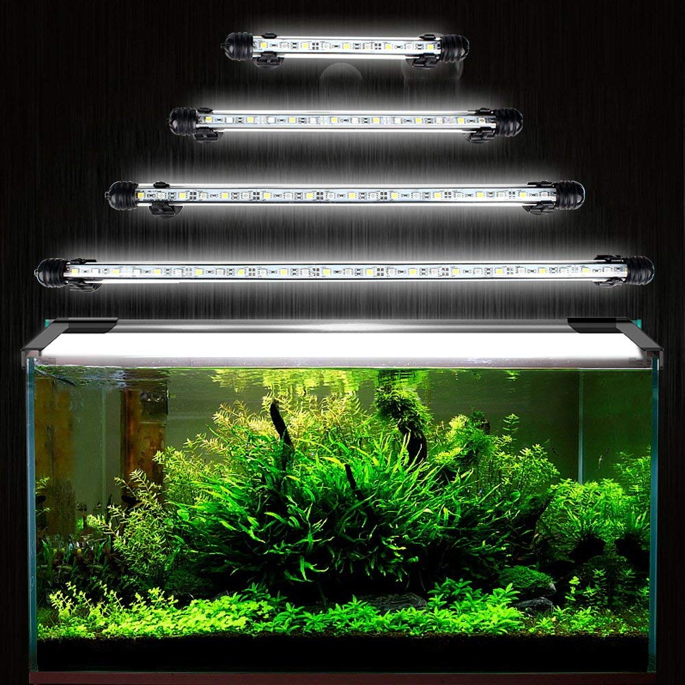 DOCEAN 108CM Waterproof Aquarium Fish Tank Lighting for Saltwater and Freshwater Lamp Submersible LED Light Bar with Suction Cups Adaptor Lighting Colour Blue,White
