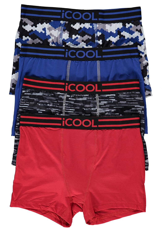 iCOOL Performance Boys Underwear | Boxer Briefs 4-Pack