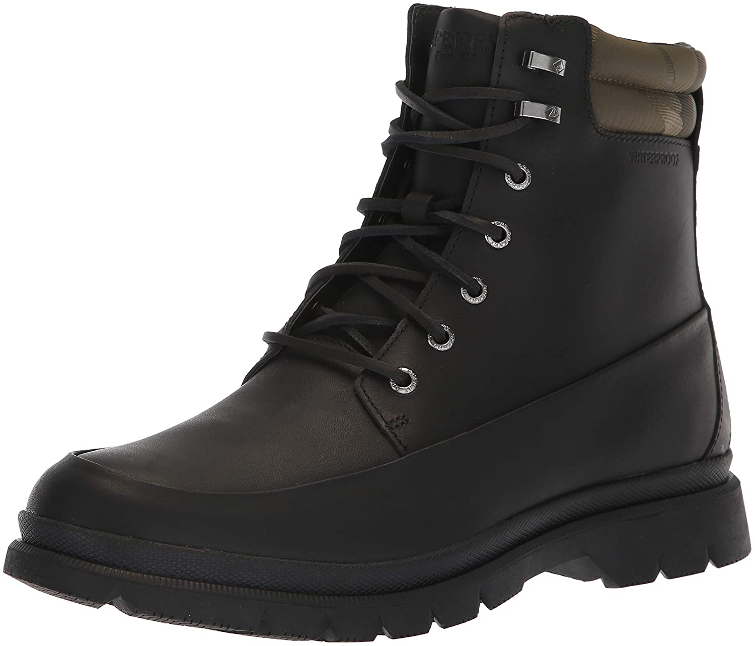 Black Sperry Mens Watertown 6  Boot Boots