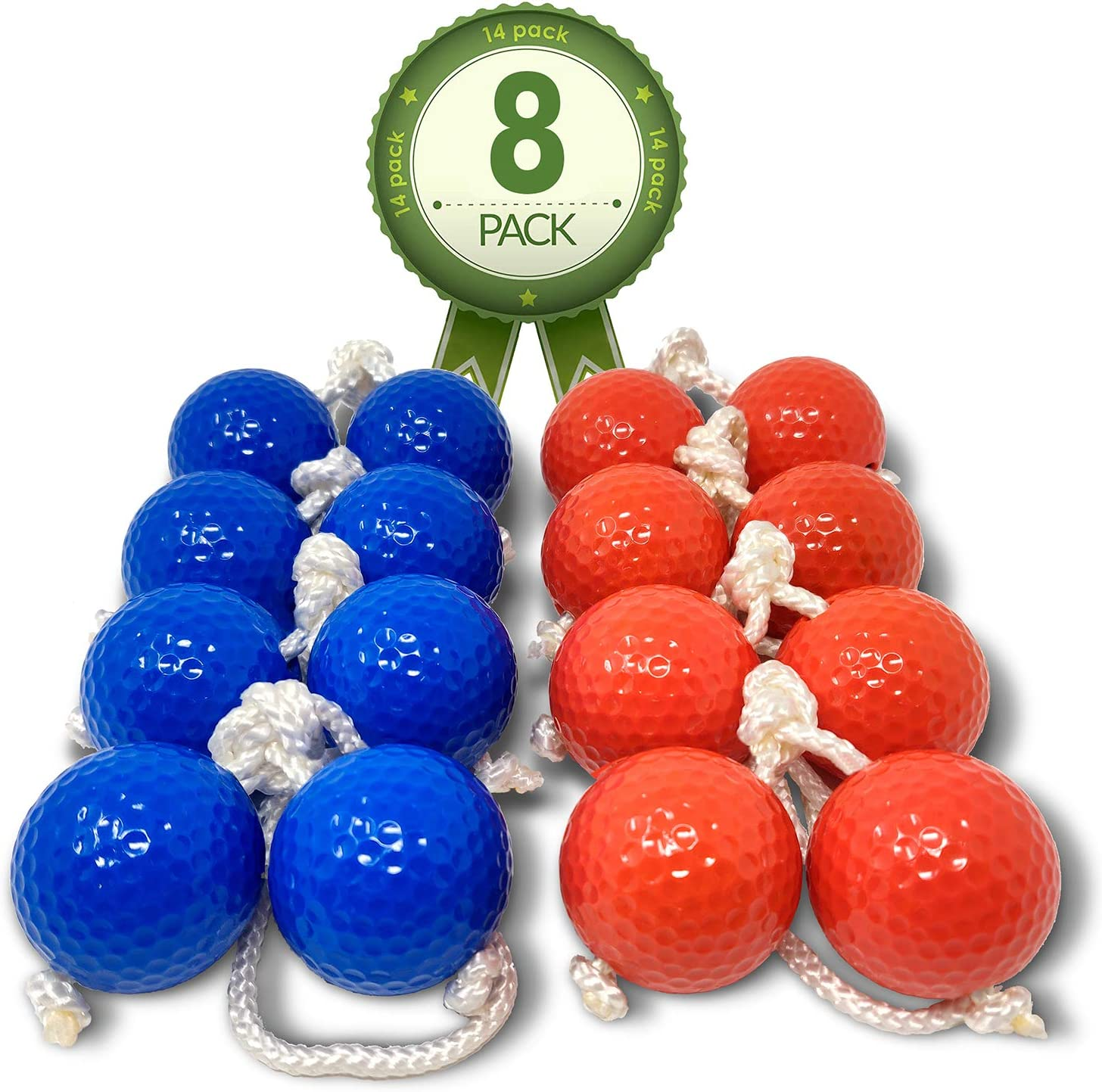 """Kayco Outlet - Tournament Quality Ladder Balls Replacement – 8 Pack - for Outdoor Ladderball Toss and Golf Game Set 14.75"""" Size"""