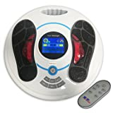 Heartline Electromagnetic Foot Massager & Body Therapy Machine, 25 Massage Modes, Remote Control, 8 Body Electrode Pads. Shiatsu, Acupuncture Modes & Many More