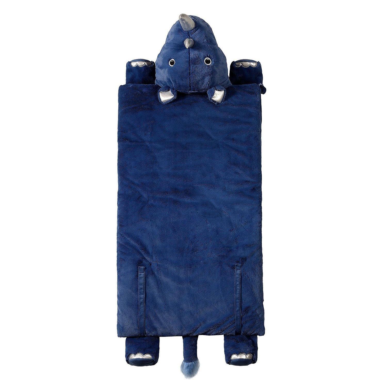 Kid 's Animal Character Slumber Sleepingバッグ ブルー B07744TJDJ Blue Rhino Blue Rhino
