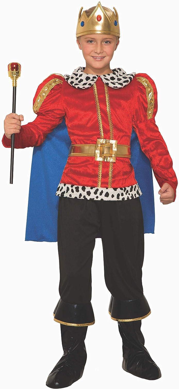 Boys Child Regal King Prince Kids Royalty Costume Cape Crown Medieval Medium