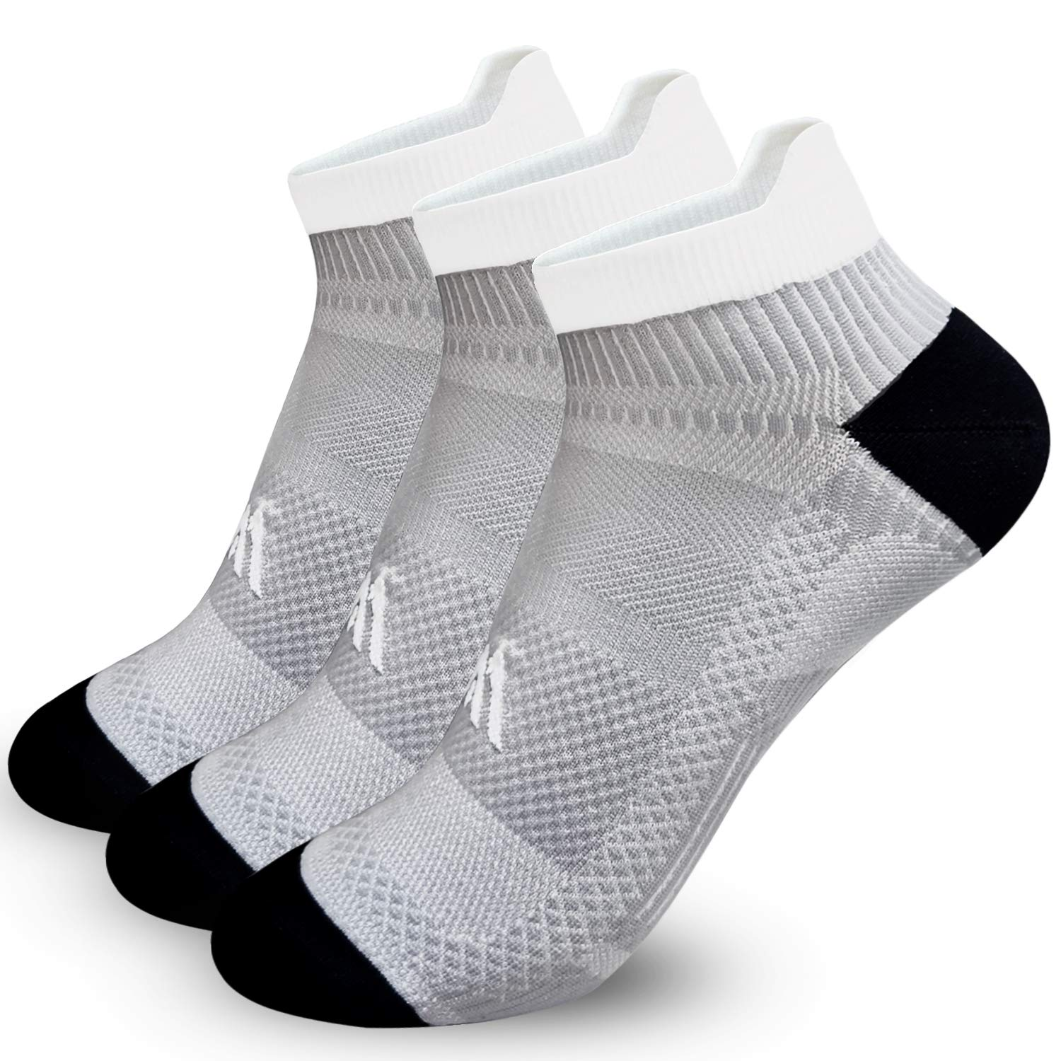 Copper Ankle Socks For Men/&Women-3//6 Pairs-Fit for Athletic,Travel/& Medical,Runing