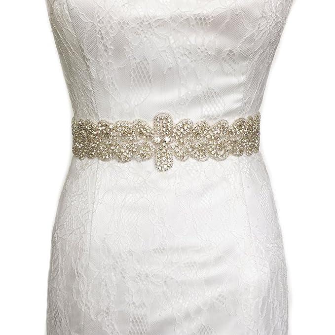 Azaleas - Cinturón para vestido de dama de honor con perlas para mujer Antique Violet Talla