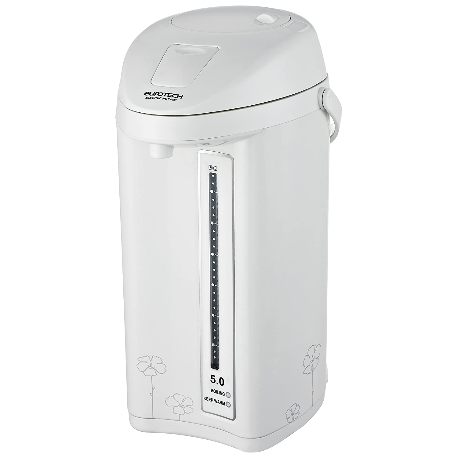 EuroTech ET5400 Fully Manual 5-Quart Electric Hot Water Pot with Safety Lock and Shabbos Mode