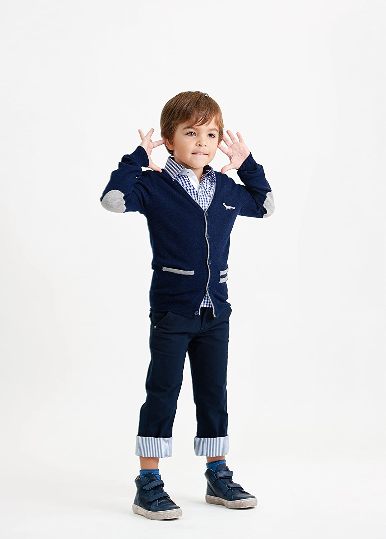 Toddler Boys Blue Cashmere Wool Blend Cardigan