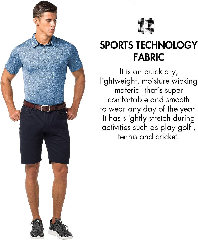 LAPASA Mens Performance Polo Short Sleeve Sports T-Shirt M49