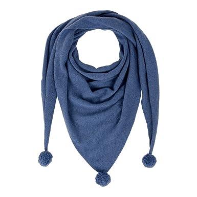 Les Poulettes Bijoux Echarpe Triangle Pompom 100% Cachemire 2 Fils - Bleu  Navy  Stéphanie Ducauroix  Amazon.fr  Vêtements et accessoires 8b4e3f8d1366
