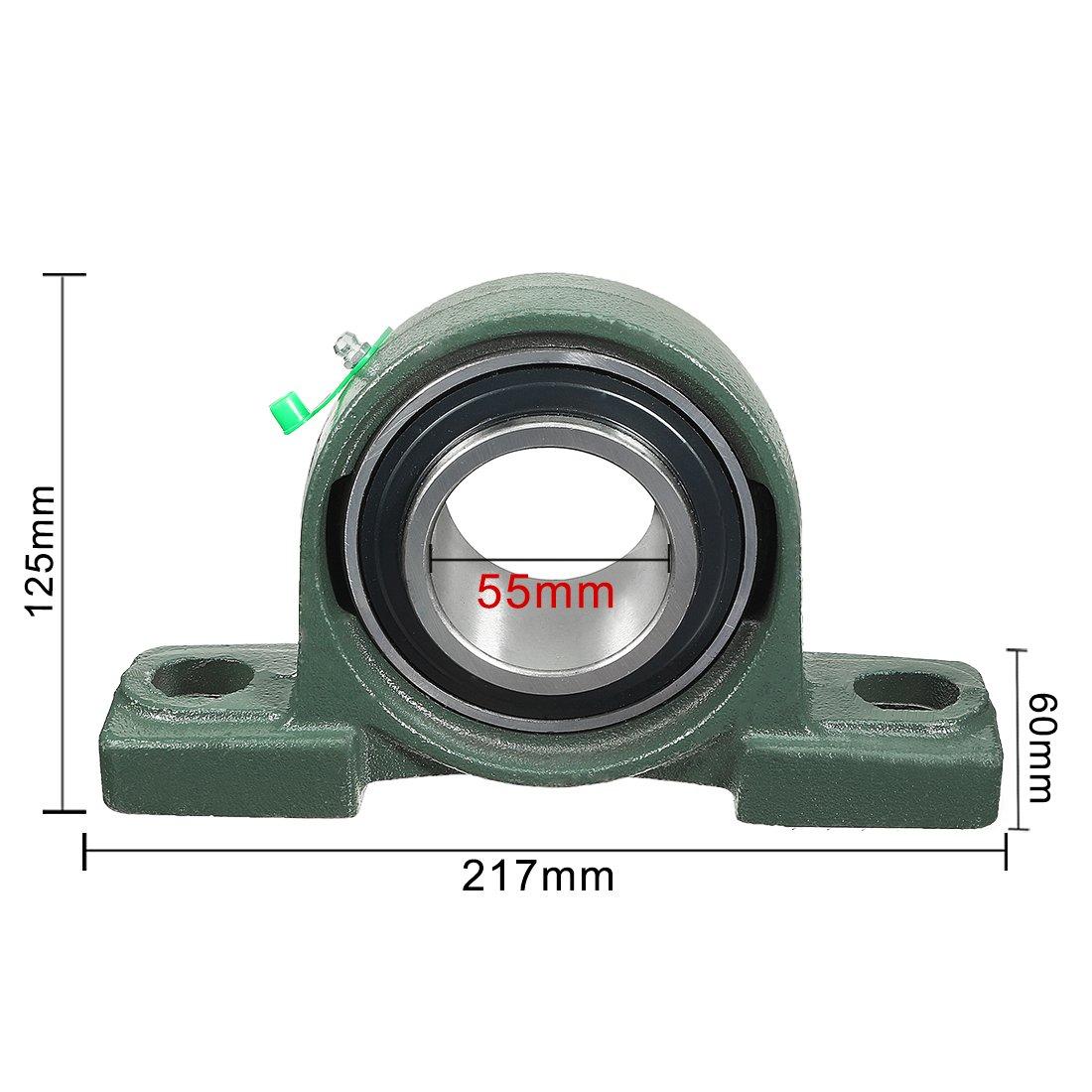 sourcingmap/® Auto-alignement Palier /à roulement en fonte UCP206 30mm mont/é Bear