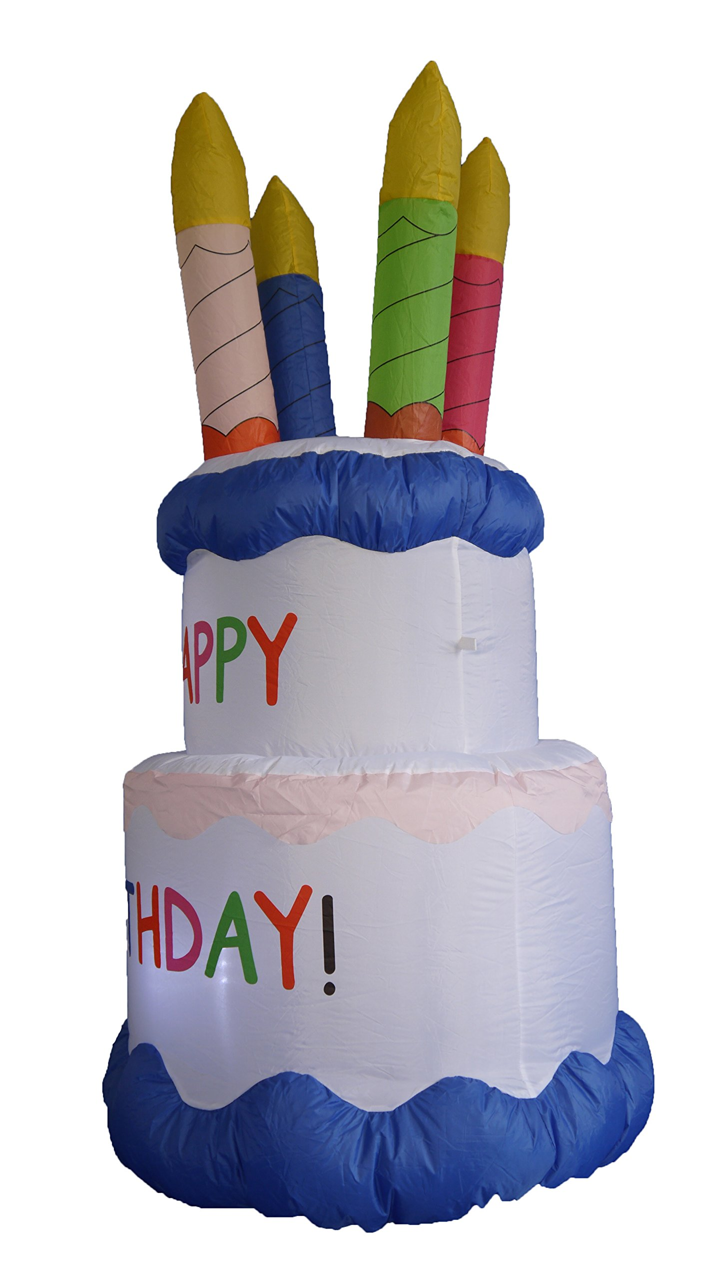 6 Foot Inflatable Happy Birthday Cake with Candles Yard Decoration by BZB Goods (Image #2)