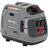 Briggs & Stratton PowerSmart P2000, generador inversor portátil de gasolina - Potencia en marcha de 1600/Potencia inicial de 2000