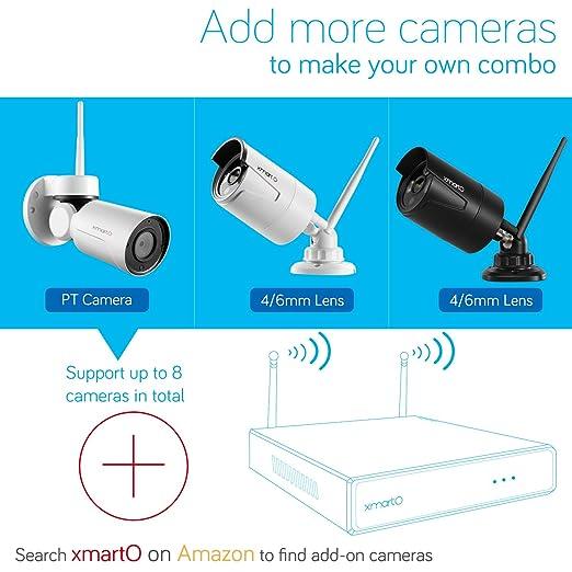 xmarto [Audio Video & Color visión nocturna] 8 ch sistema de cámara de seguridad inalámbrica 960p hd ampliable con 4 x 960P HD Wifi noche Color al aire ...