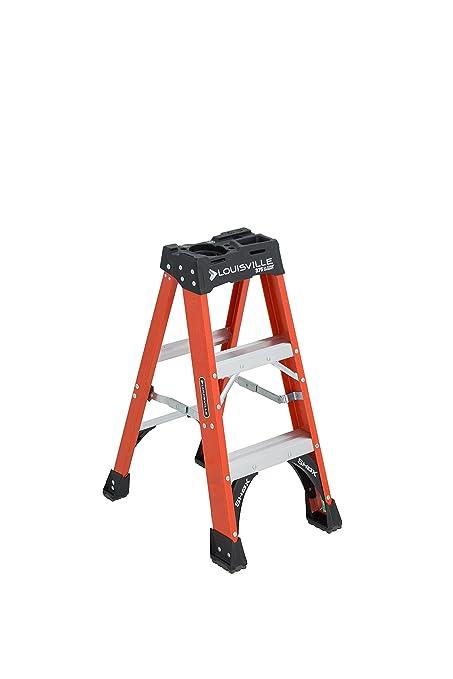 Tremendous Louisville Ladder 3 Foot 375 Pound Capacity Fs1403Hd Fiberglass Step Ladder 3 Feet Pabps2019 Chair Design Images Pabps2019Com
