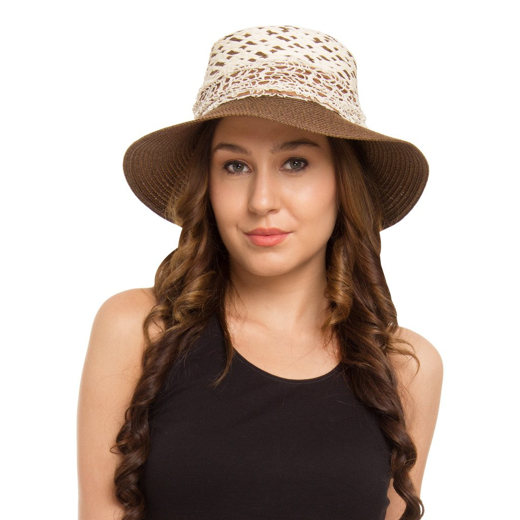 5e2a8e422a4 Buy FabSeasons Brown Sun Hat for Women Online at Low Prices in India -  Amazon.in