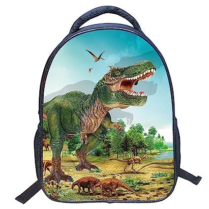 KJH21 - Mochila con diseño de Dinosaurio en 3D, diseño de Animales, para niños
