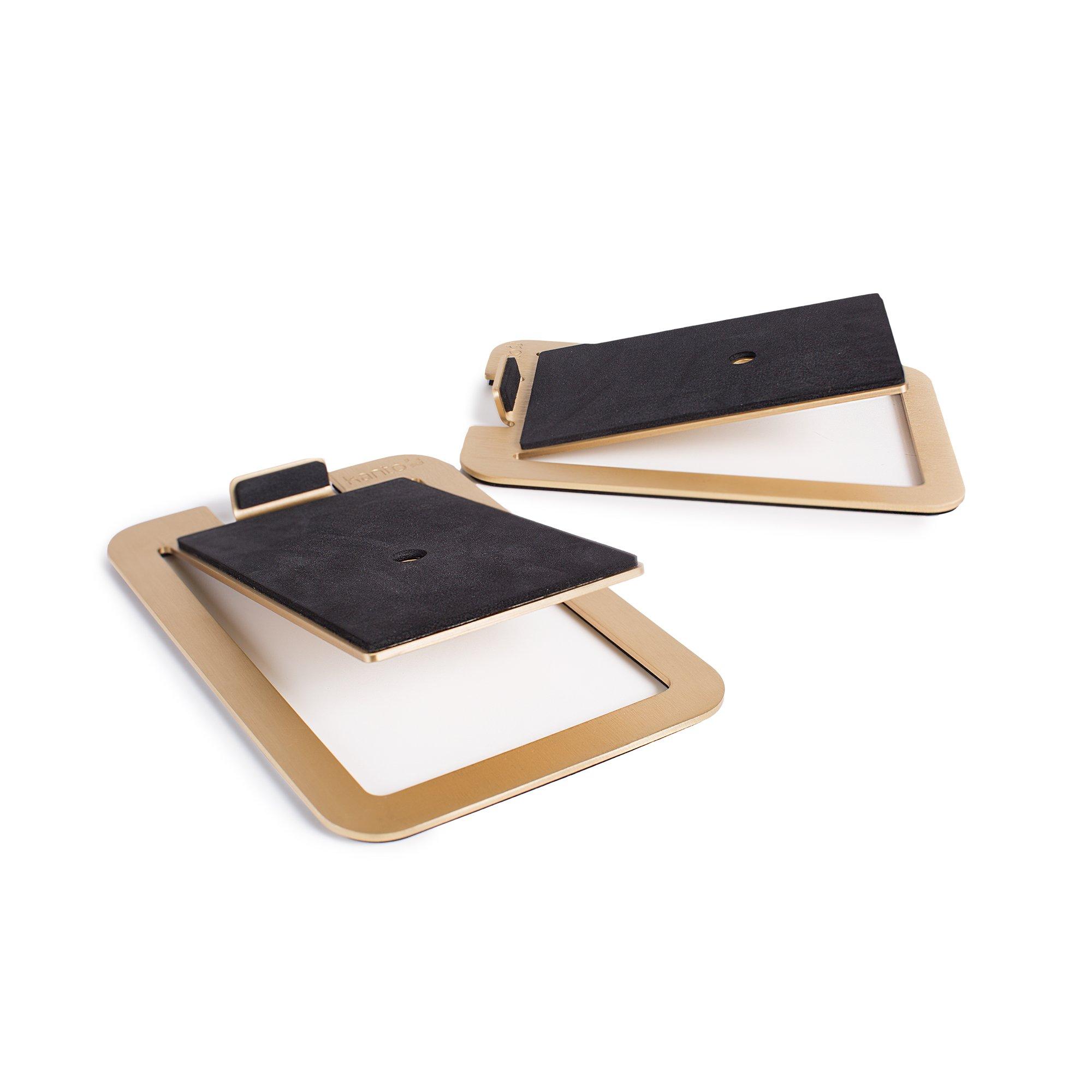 Kanto S4 Desktop Speaker Stands for Midsize Speakers, Brass