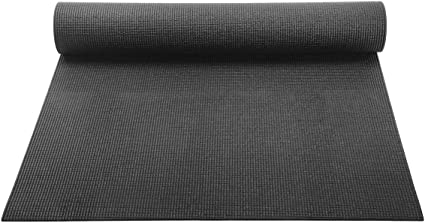 Amazon Com Yogaaccessories 1 8 Lightweight Classic Yoga Mat And Exercise Pad Black Sports Outdoors