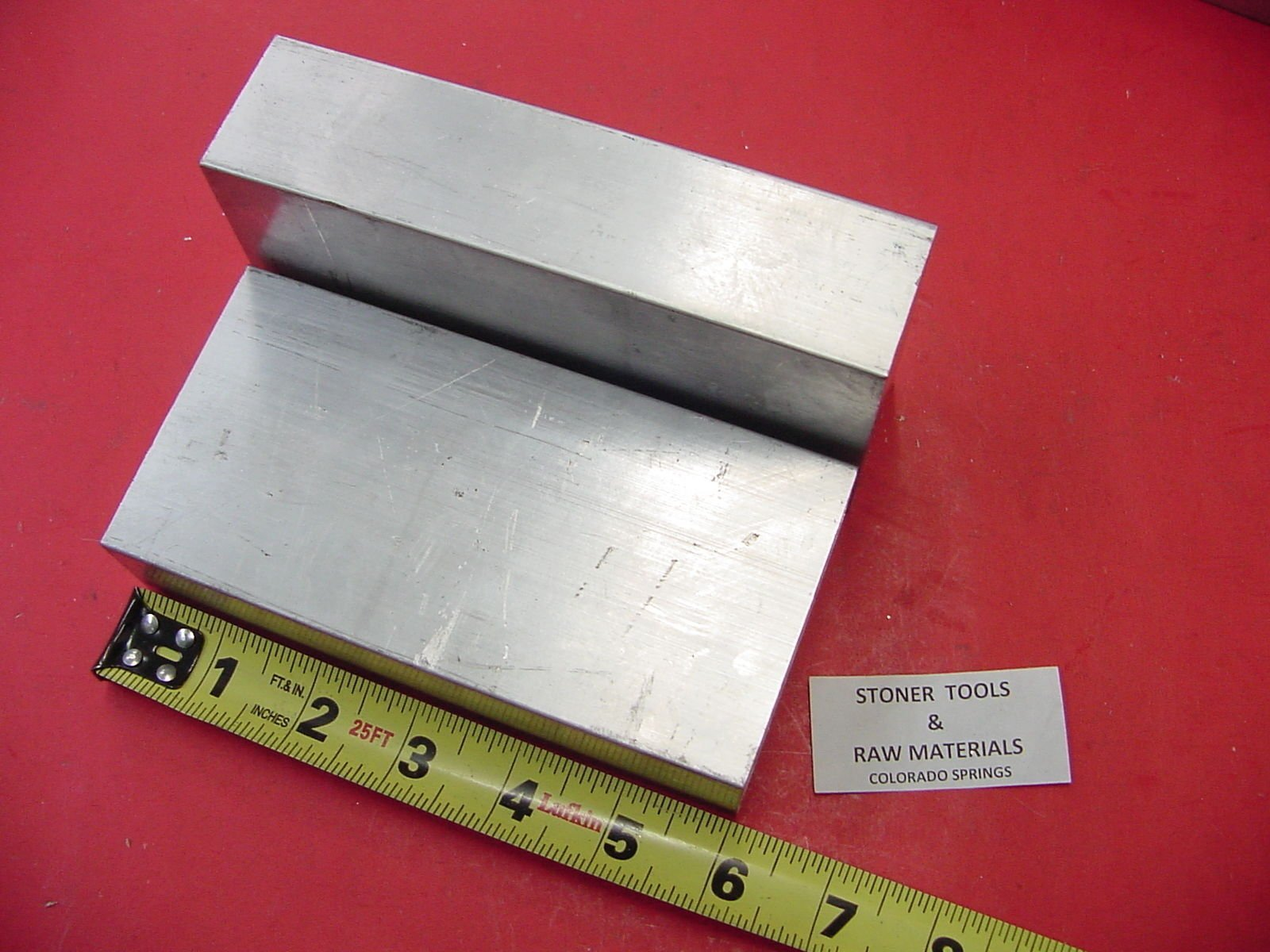 2 Pieces 1-1/2'' X 3'' Aluminum 6061 Extruded BAR 6'' Long +.07''/-0 Solid T6511 Mill Stock 1.50'' by Stoner Metals