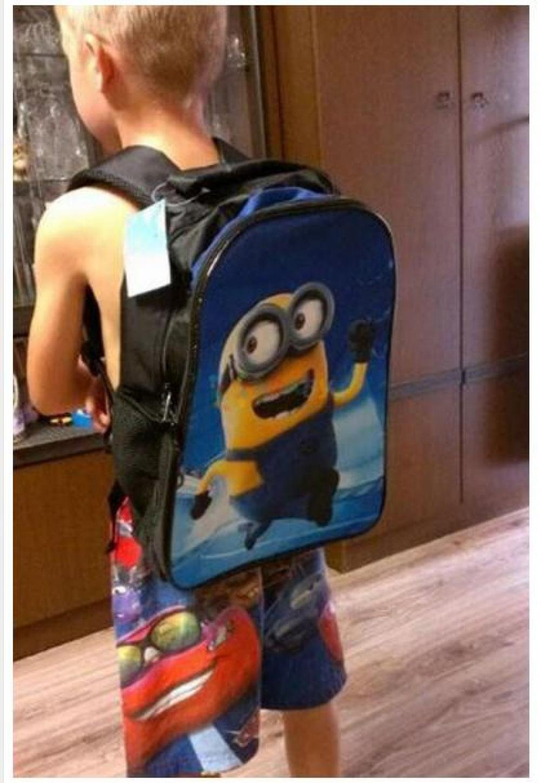 Amazon.com : New Fashion Despicable Me 2 Kids Cartoon bags child Backpack boy Minions schoolbag mochila children quality school bag (1PC, Style 1) : Baby