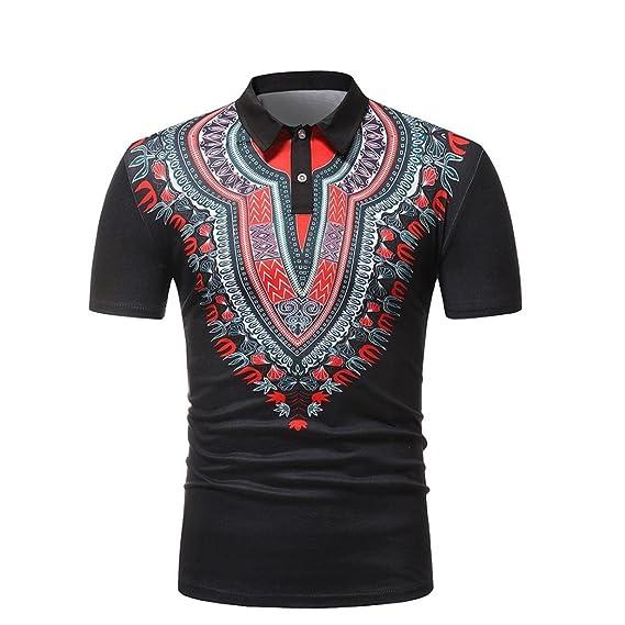 Cinnamou Camiseta Deporte Hombre, Camiseta de Africano Estampada Hombre Camisetas Deporte Ropa Deportiva Camisa de Manga…