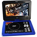 Buyee Handheld Portable DVD Player 9.5 Inch 270 Degree Swivel Screen Support Analog Tv/ Vcd/cd/mp3/mp4/usb Sd Card Slot /Card Reader/ Game/fm Radio with Game Controller and Remote Controller (Blue)