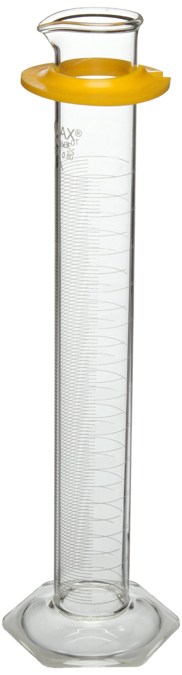 Kimble Chase KIMAX 20028W-1000 Borosilicate Glass Class A Cylinder with Reverse Metric Scale, Calibrated to Deliver, 1L Capacity