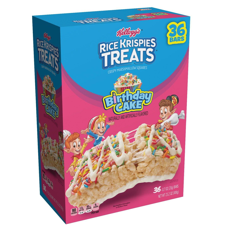 Rice Krispie Treats Birthday Cake 36 ct. (pack of 6) A1