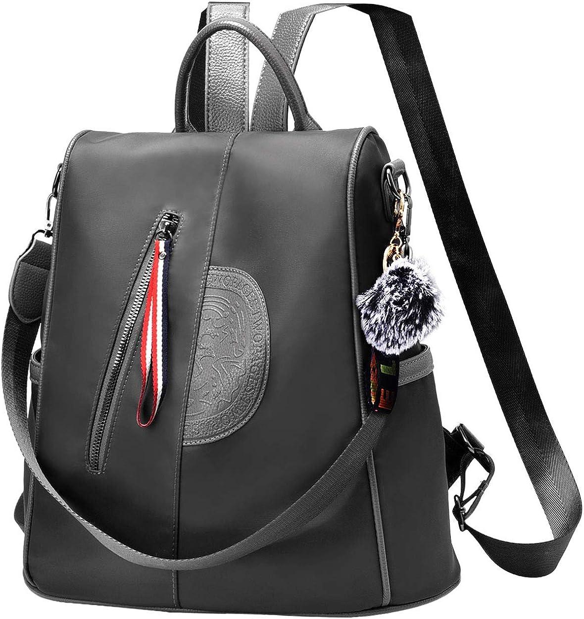 Waterproof Nylon Women Backpack Purse Multipurpose School Travel Shoulder Bag