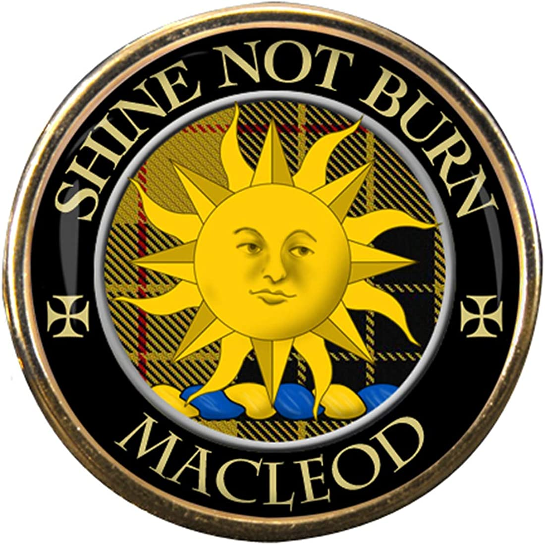 Macleod Scottish Clan Crest Lapel Pin Badge