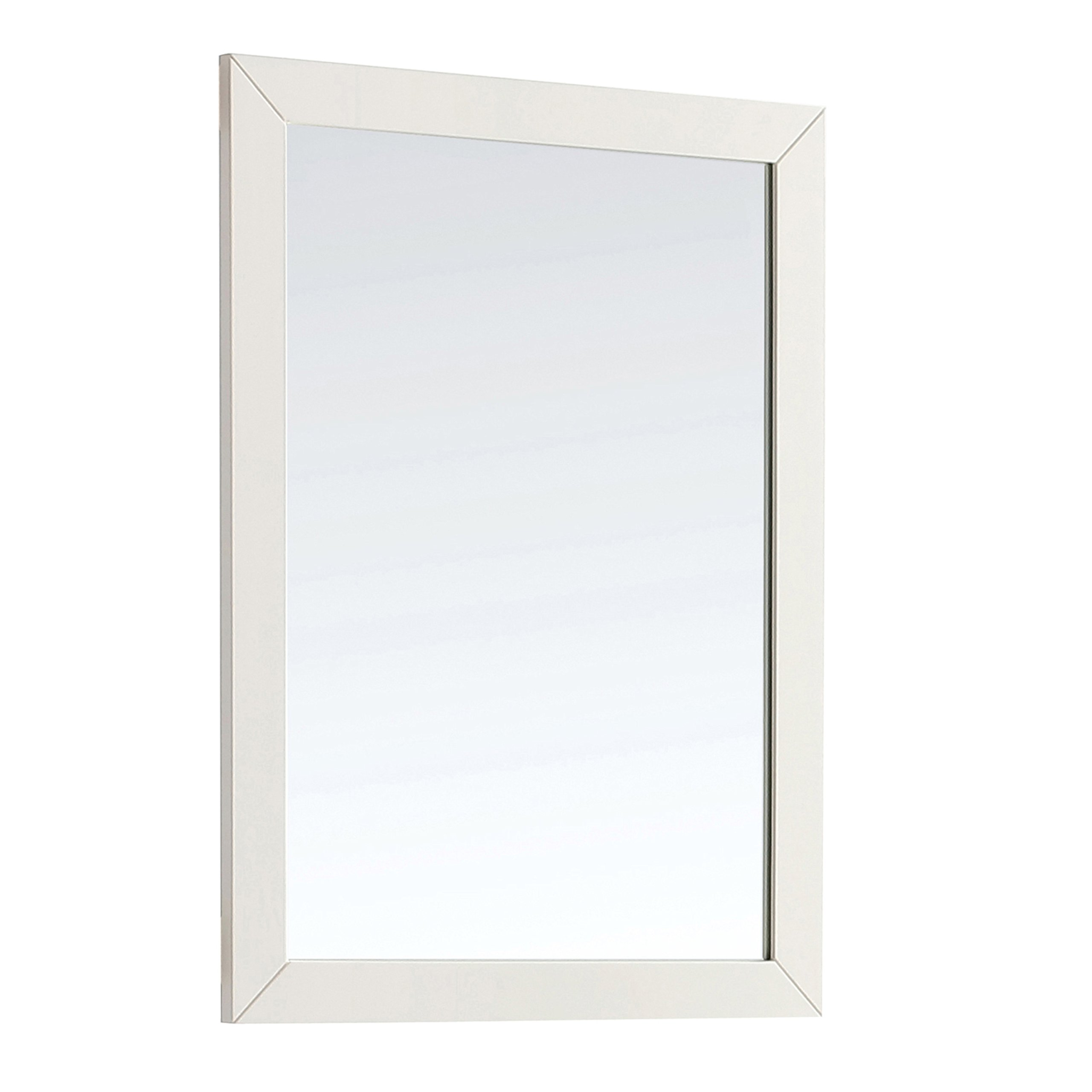 Simpli Home Paige 30'' x 34'' Large Bath Vanity Décor Mirror, Soft White