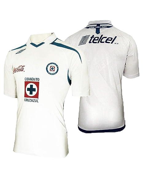 Cruz Azul Jersey Away, White Color, Authentic Jersey, Camiseta del Autentico 2009 (