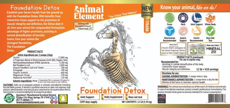 Foundation Detox - 12 Lb. - All Natural, GMO Free Supplement