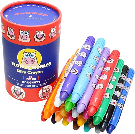 Allnice Crayons for Kids 6 Color Toddler Crayons Non Toxic Coloring Set Mini Art Animal Crayons for Gift for Kids Age 3+