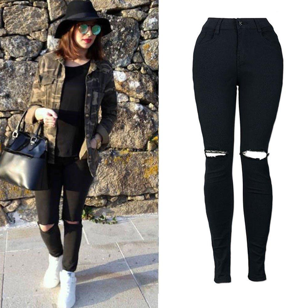 STRIR Vaqueros Mujer Push Up Tejanos Mujer Ajustados Cintura Alta Pantalones Pitillos Elasticos Jean de Mujer: Amazon.es: Ropa y accesorios