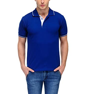 Scott Men 39 S Premium Cotton Polo T Shirt Royal Blue T