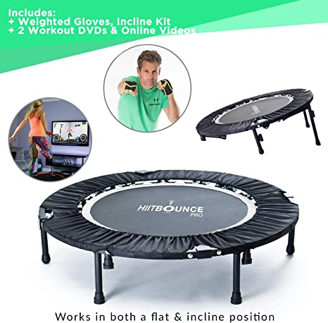 Hiit Bounce Pro Mini Cama Elástica Plegable con Inclinación ...