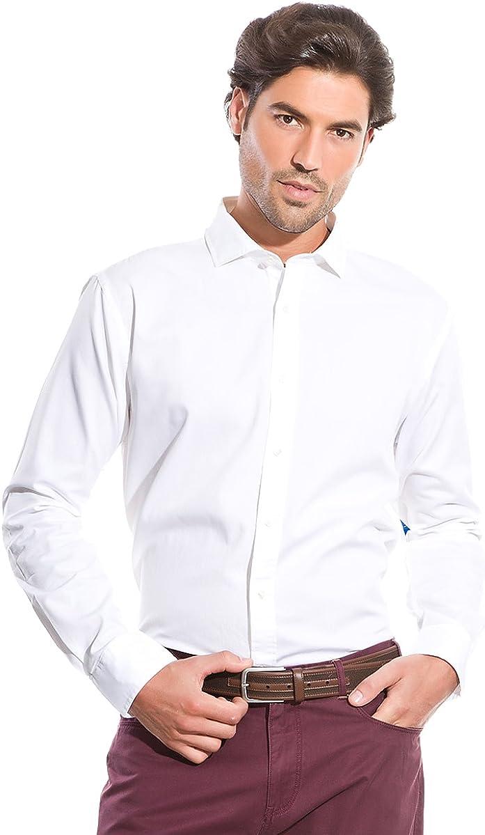 Cortefiel Camisa Canutillo Blanco S: Amazon.es: Ropa