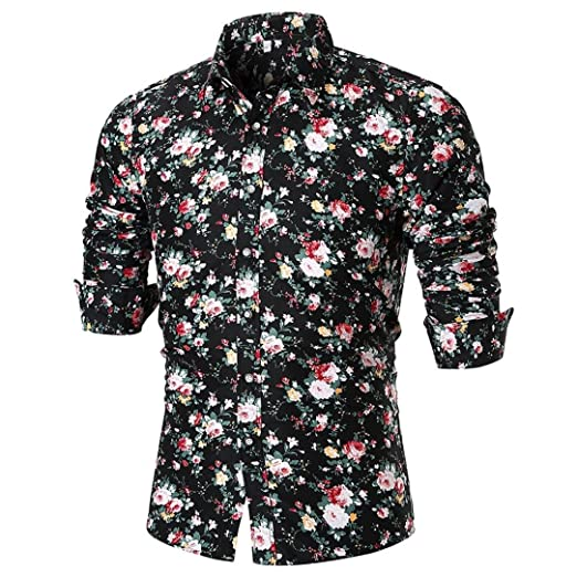 f0fec74b Amazon.com: vermers Mens Vintage Button Down Shirts Men's Fashion ...