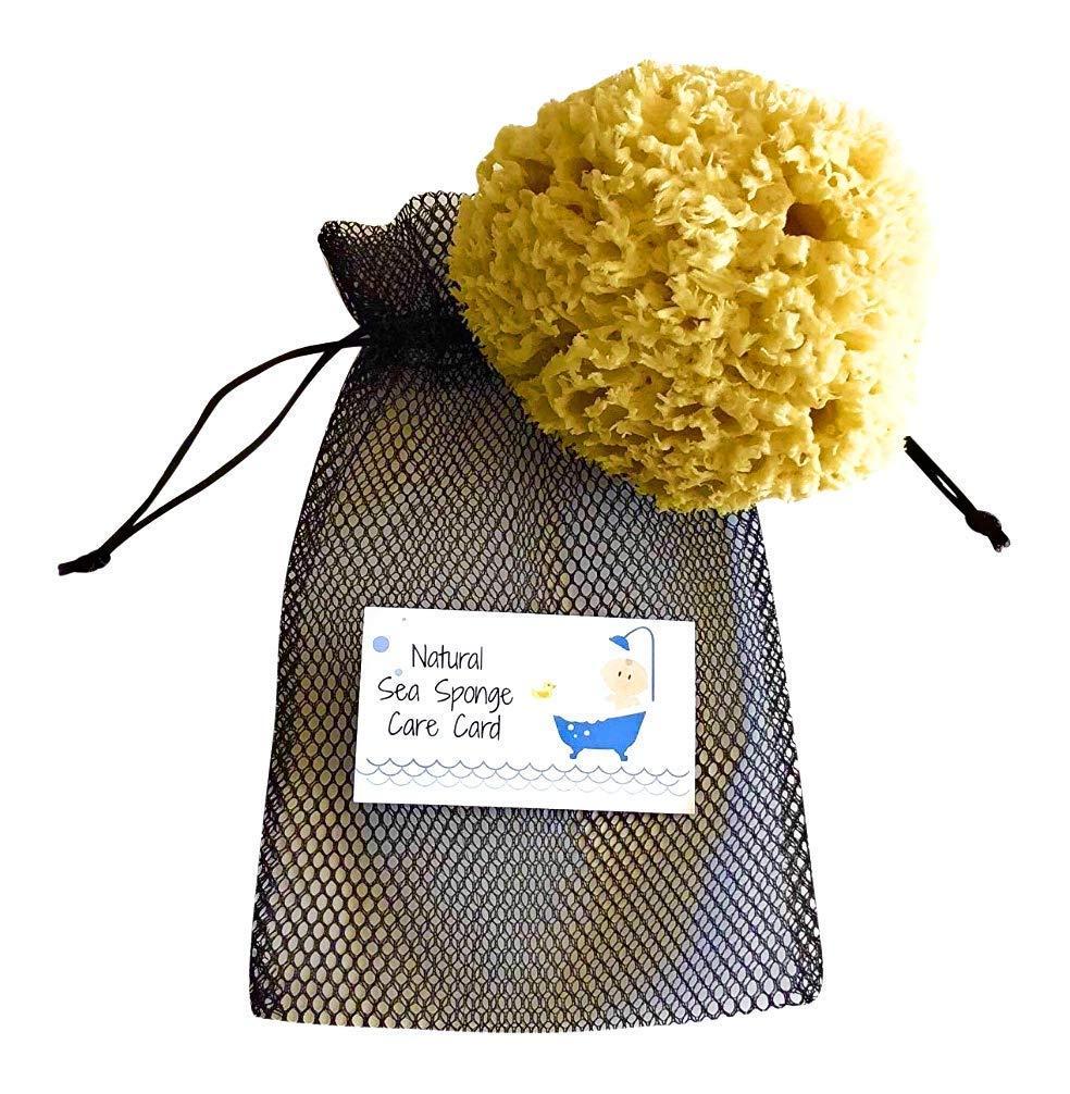 "Natural Baby Bath Sponge - 5-6"" Ultra Soft Hypoallergenic Natural Sea Sponge"