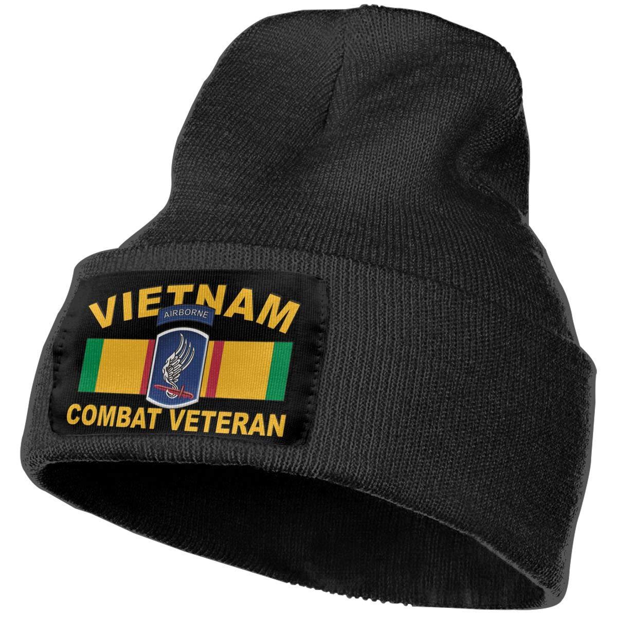 173rd Airborne Vietnam Combat Veteran Men/&Women Warm Winter Knit Plain Beanie Hat Skull Cap Acrylic Knit Cuff Hat