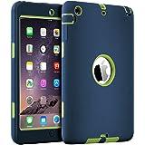 iPad mini Case, iPad mini 2 Case, iPad mini 3 Case, iPad mini Retina Case, BENTOBEN 3in1 Anti-slip Hybrid Protective Heavy Duty Rugged Shockproof Resistance Cover for iPad Mini 1/2/3, Dark Blue&Yellow