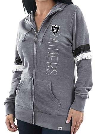 """Oakland Raiders de la mujer Majestic NFL """"tradición full Zip sudadera con capucha,"""
