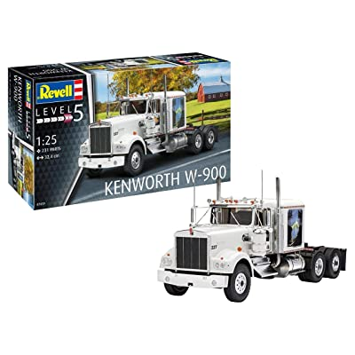 Revell RV07659 1:25 - Kenworth W-900 Plastic Model kit 1/25: Toys & Games