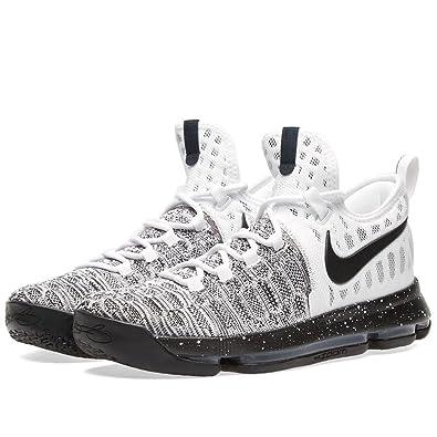Zapatillas de baloncesto Nike Zoom KD 9 Oreo para hombre, blancas ...