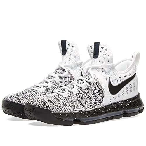 50316938f73d Nike Mens Zoom KD 9 Oreo Basketball Shoes White Black 843392-100 (10 D(M))   Buy Online at Low Prices in India - Amazon.in