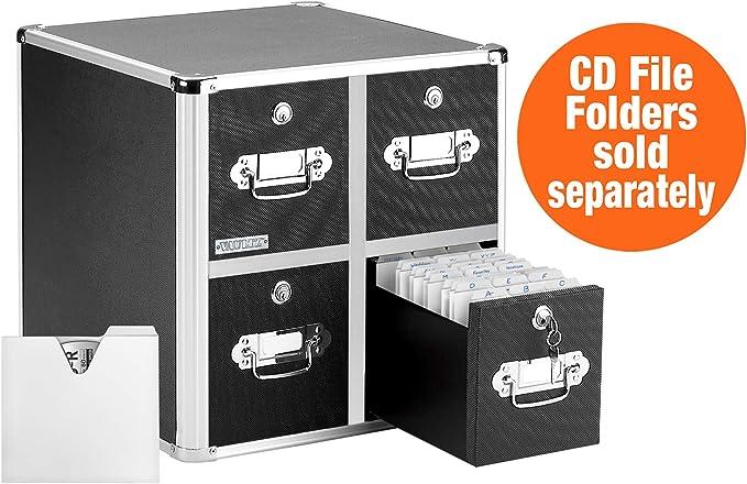 Four Drawer CD File Cabinet Holds 600FLD OP IDEVZ01049 United STATIONERS 240SLI