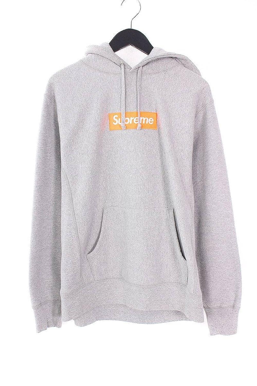 (シュプリーム) SUPREME 【17AW】【Box Logo Hooded Sweatshirt】ボックスロゴプルオーバーパーカー(M/グレー) 中古 B07FMX9TPV