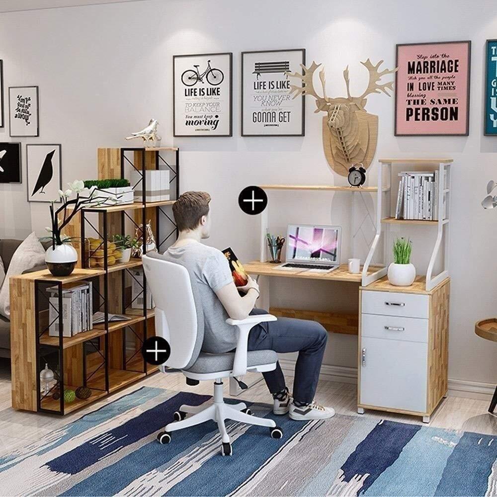 Xiuyun svängbar stol – kontorsstol spelstol, skrivbord datorstol ergonomisk stol, komfortsäte, justerbar höjd, andningsbar kudde, lågbrusunderlägg (färg: Brun) Naturligt